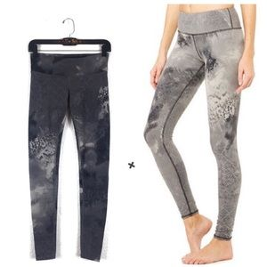 Alo Yoga Grey Abstract Watercolor Workout Leggings